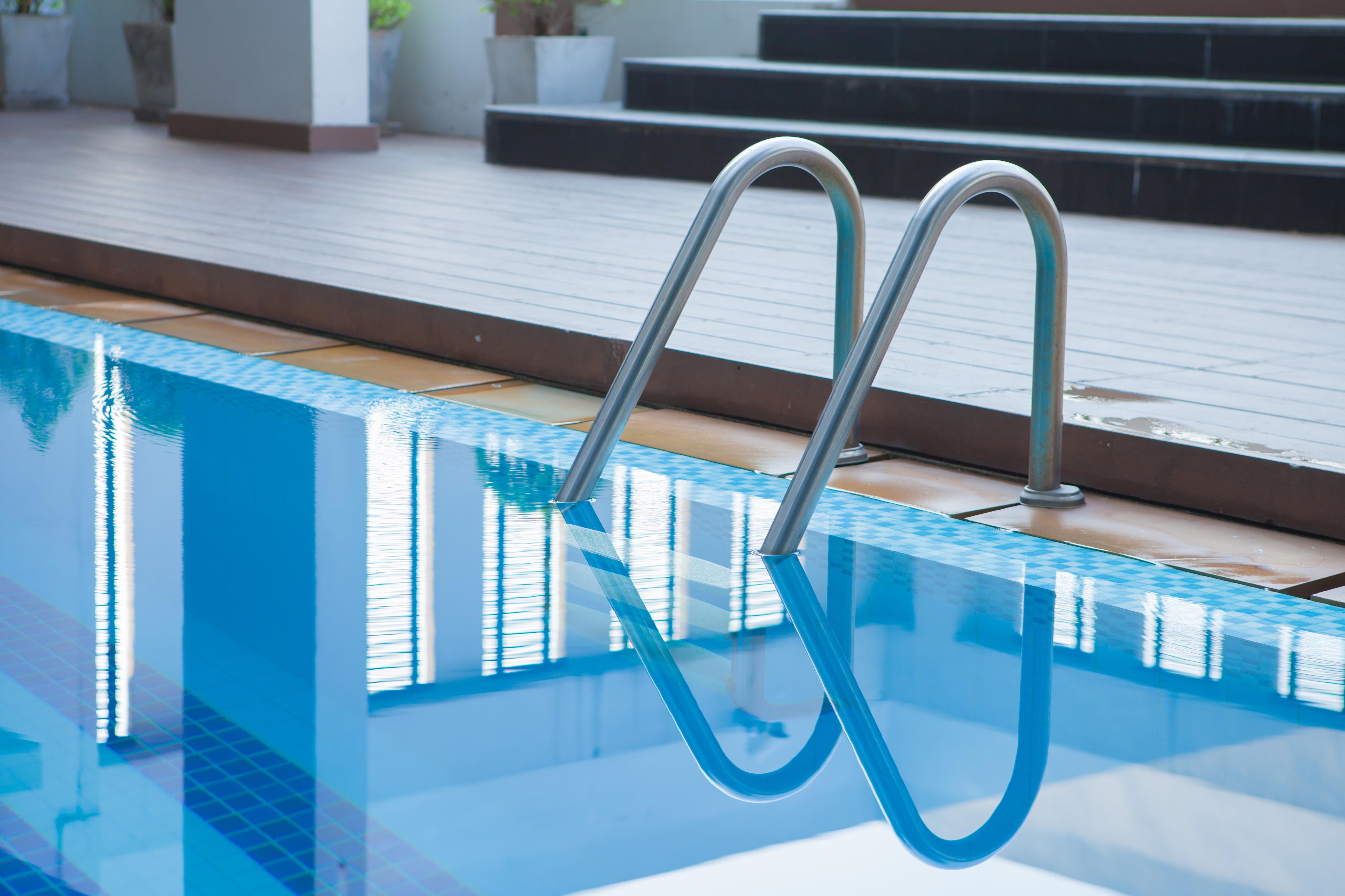 Closeup photo of a swimming pool